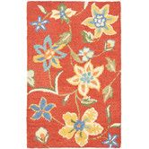 Found it at Wayfair - Blossom Rust & Multi Floral Area Rug