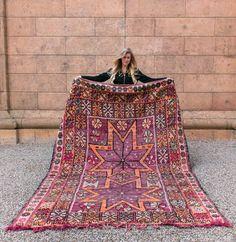 Moroccan Rug, Vintage, Boujad