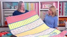 Your strips will all be cut different lengths so you can choose your favorite fabric for the largest strip if you like. While you will have different patterns on your fabric strips, Bonnie and Cindy suggest using the same solid fabric for your sashing strips. You can change it up but keeping them all …