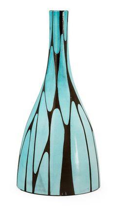 Mari Simmulson; Glazed Stoneware Vase for Upsala Ekeby, 1950s.