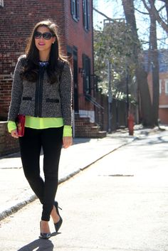 pops of neon to transition from winter to spring | The Sisters in the City blog