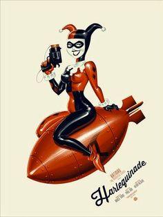 "Mondo+-+""Harlequinade""+Batman+The+Animated+Series+Standard+Edition+Screen+Print+by+Phantom+City+Creative.jpg (374×498)"