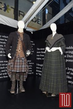 """""""I was driving through the Scottish countryside one day and a large fir branch had fallen across the road. It was beautiful tones of silver grey bark and green needles. It was the inspiration for this gown."""" — Costume Designer Terry Dresbach"""