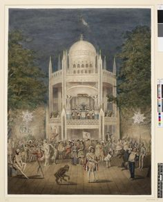 British Museum Image gallery: Vauxhall Gardens--the orchestra, 1840. drawing