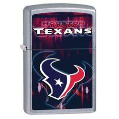Zippo NFL Houston Texans Refillable Lighter, Grey