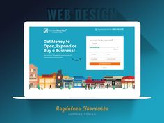 Website of a Community Lending Company designed by Magdalena Ciborowska. the global community for designers and creative professionals.