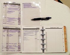 GTD Foldout In Use by shris, via Flickr Organizing Papers, Paper Organization, Organizing Ideas, Arc Planner, Planner Ideas, Types Of Planners, Day Planners, Daily Page, Bullet Journals