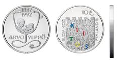 Suomi 10€ Arvo Ylppö ja Lääketiede hopea