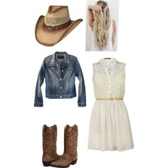 So cute cowgirl outfits are so adorable Cowgirl Outfits, Cowgirl Style, Western Outfits, Unique Outfits, Pretty Outfits, Cool Outfits, Fashion Outfits, Fashion Ideas, Country Western Dresses
