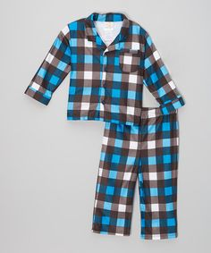 Look what I found on #zulily! Black & Blue Plaid Pajama Set - Infant & Toddler #zulilyfinds