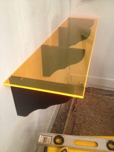 DIY fluorescent acrylic shelving