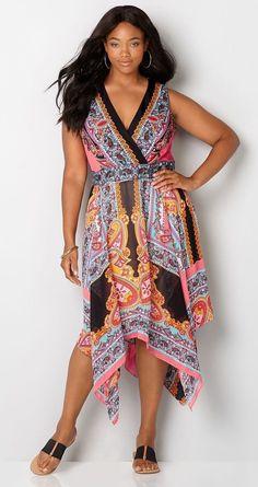 Plus Size Handkerchief Dress
