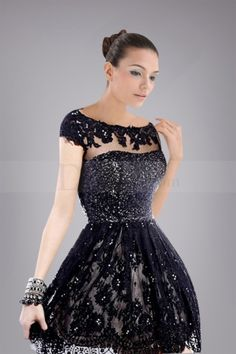 Eye-popping Illusion Bateau Neckline Sweet 16 Dress Features Shimmering Sequined Bodice
