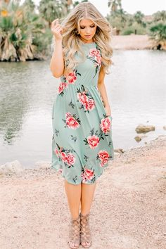 Kauai Floral Dress with Pockets | Made in USA