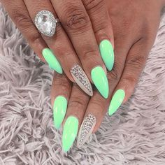 love, love, love this color...it pops!!! #SummerNails
