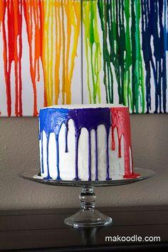 drippy crayon cake