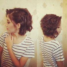 -------Penteado moderno em cabelo curto-------- #penteado #madrinhadecasamento #producao By @weversonaraujo_
