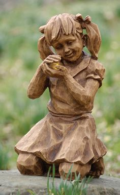 girl with firefly garden statue