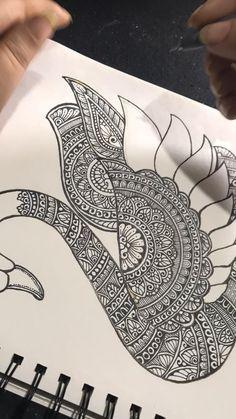 Mandala Art Therapy, Mandala Art Lesson, Mandala Artwork, Art Drawings Beautiful, Dark Art Drawings, Art Drawings Sketches Simple, Art Painting Gallery, Dot Art Painting, Doodle Art Drawing
