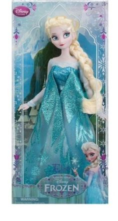 "Disney Store Frozen Princess Elsa Classic 12"" Doll HARD TO FIND,"