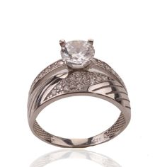 The Zerbap Wedding Ring with Zircon Stone by Rosestyle on Etsy, $22.30