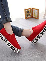 Chaussures Femme Toile Talon Compensé Compensées A Plateau Creepers Bout  Arrondi Baskets à 6110dd267896
