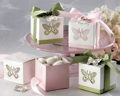 butterfly favors for baby shower 5 Wedding Favor Boxes, Wedding Party Favors, Wedding Decorations, Favour Boxes, Gift Boxes, Wedding Ideas, Decor Wedding, Wedding Card, Wedding Stationery