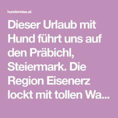 Dieser Urlaub mit Hund führt uns auf den Präbichl, Steiermark. Die Region Eisenerz lockt mit tollen Wanderungen und Seen, wo Hunde erlaubt sind. Seen, Iron Ore, Pet Dogs
