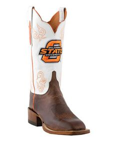 Another great find on #zulily! Lucchese Oklahoma State Leather Cowboy Boot - Women by Lucchese #zulilyfinds