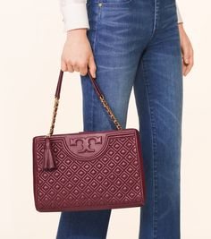 TORY BURCH FLEMING OPEN SHOULDER BAG. #toryburch #bags #shoulder bags #leather #