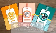 Paper Daisy Crafting: Video tutorial for Bonanza Buddies card Scrapbooking, Scrapbook Cards, Paper Daisy, Kids Birthday Cards, Stamping Up Cards, Kids Cards, Fun Cards, Men's Cards, Animal Cards