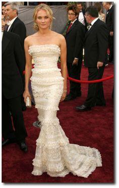 Diane Kruger in Elie Saab (Spring 2006) Couture at the  Academy Awards, 2013.