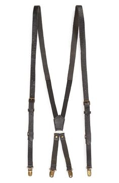 Topman Leather Braces (Brit Pop-In) available at #Nordstrom
