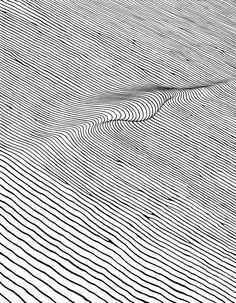 Line Wave Hand-drawn Sea Black White