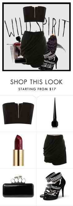 """Wild Spirit"" by gabi-girl ❤ liked on Polyvore featuring Cool Shit, Balmain, Christian Louboutin, Urban Decay, Jane Norman and Noir Jewelry"