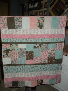 Baby quilt for Ralph Gabay's new daughter Morgan, made with Moda's Blush fabric. Fall 2010