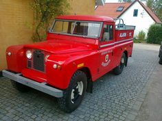My own Land Rover - old Danish fire truck