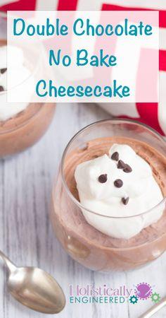 Grain Free Double Chocolate No Bake Cheesecake | holisticallyengineered.com #grainfree #lowcarb