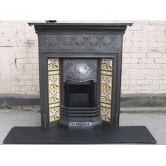 153 Original Victorian Fireplace with tiles - this is a Combination Victorian Fireplace