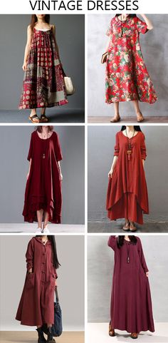 Gracila Spaghetti Strap Ethnic Printed Women Vintage Long Maxi Dresses