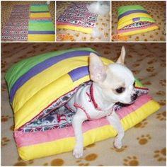 DIY Pet Sleeping Bag from Scraps 1