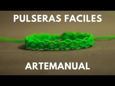 pulseras de hilos rapidas y faciles | tutorial macrame - YouTube