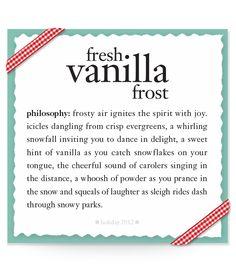 fresh vanilla frost #recipe #philosophy #holiday