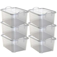 Life Story Clear Stackable Closet And Storage Box 55 Quart Containers, Pack) 6 X Storage Sets, Tote Storage, Under Bed Storage, Garage Storage, Storage Boxes, Kitchen Storage, Closet Storage Bins, Pantry Shelving, Storage Room