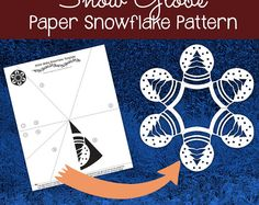 Follow this simple pattern to cut out a beautiful, detailed paper snowflake! Simply print out the template, fold, cut, and enjoy :)  This is a digital download -- you will receive a PDF of the pattern, which you can print and cut out on your own! If you would like to purchase the 25 Days of Snowflakes Pattern Pack (which includes 25 designs that I will mail to you!), follow this link: https://www.etsy.com/listing/491385617/snowflake-patterns-winter-craft-paper  Check out my YouTube page for…