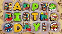 Misk'i Message Happy Birthday - Comic Book