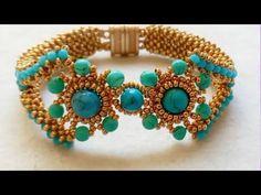 Turkuaz Bileklik Yapımı   Turquoise Bracelet Tutorial DIY - YouTube Beaded Braclets, Beaded Bracelets Tutorial, Beaded Bracelet Patterns, Seed Bead Tutorials, Beading Tutorials, Seed Bead Jewelry, Bead Jewellery, Beads And Wire, Diy Earrings