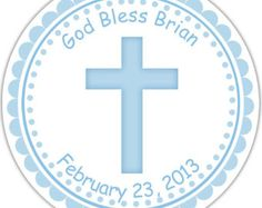 Cross Blue Baptism Christening First Holy by sharenmoments on Etsy