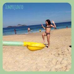 Montagem de fotos na praia - fotos criativas com crianças. Praia com crianças e muita diversão!