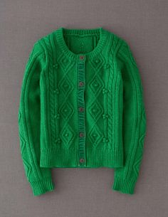 Casual Cable Cardigan- considering this, but not sure about the velvet placket?